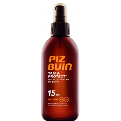 Piz Buin Tan & Protect Tan Acceleration Oil Spray - SPF15 150 ml