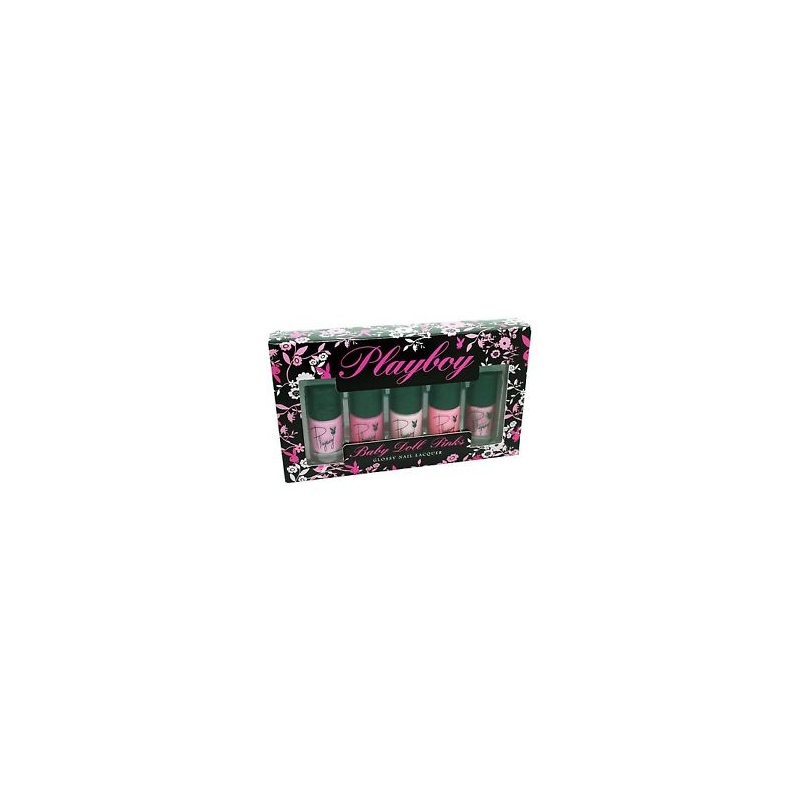 Playboy Baby Doll Pink Nail Polish Set 5 X 10 Ml