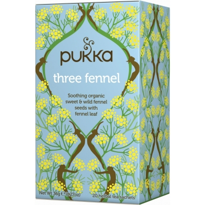 Pukka Three Fennel Tea Luomu 20 pussia