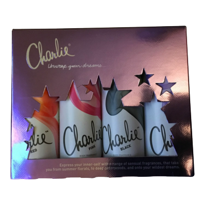 Image of   Revlon Charlie Body Spray Set 4 x 50 ml