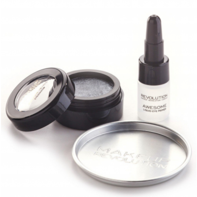 Image of   Revolution Makeup Awesome Metals Eye Foils Set Black Diamond 1,5 g + 6 g