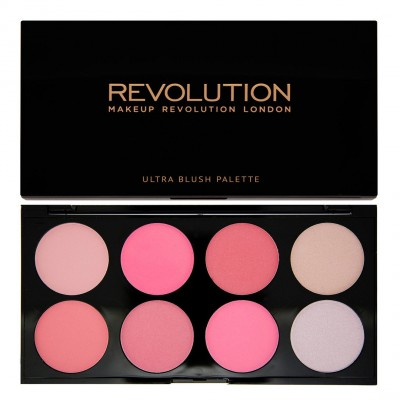 Image of   Revolution Makeup Blush & Contour Palette All About Pink 13 g