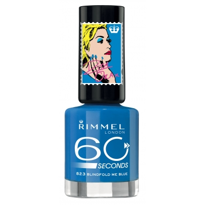 Image of   Rimmel 60 Seconds 823 Blindfold Me Blue 8 ml
