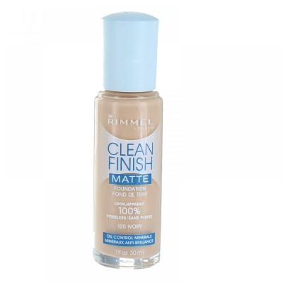 Image of   Rimmel Clean Finish Foundation 120 Ivory 30 ml