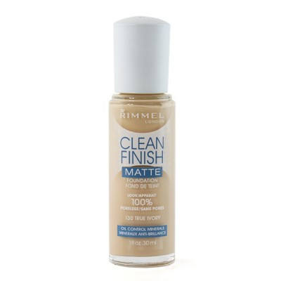 Image of   Rimmel Clean Finish Foundation 130 True Ivory 30 ml
