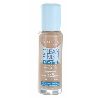 Image of   Rimmel Clean Finish Foundation 250 Classic Beige 30 ml