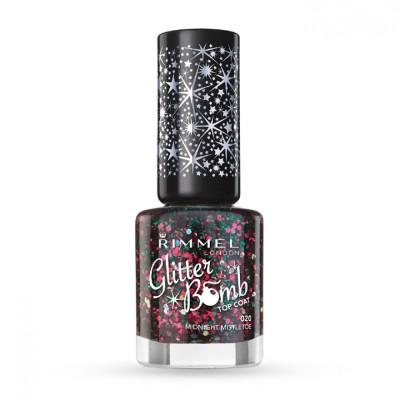 Rimmel Glitter Bomb Top Coat 20 Midnight Misteltoe 8 ml
