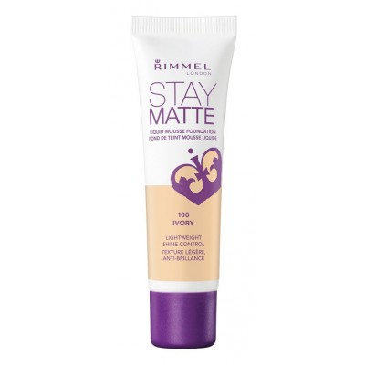Rimmel Stay Matte Liquid Mousse Foundation 100 Ivory 30 ml