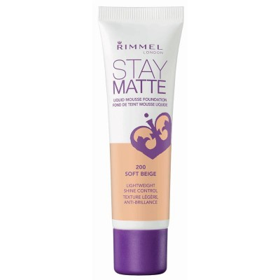 Rimmel Stay Matte Liquid Mousse Foundation 200 Soft Beige 30 ml
