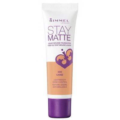 Rimmel Stay Matte Liquid Mousse Foundation 300 Sand 30 ml