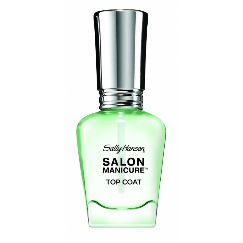 sally hansen salon manicure top coat clear transparent 14