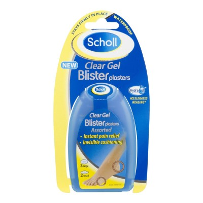 Image of   Scholl Clear Gel Blister Pads 3 stk + 2 stk