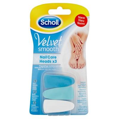 Scholl Velvet Smooth Elektrisches 3-Phasen Nagelpflegesystem Aufsätze 3 stk
