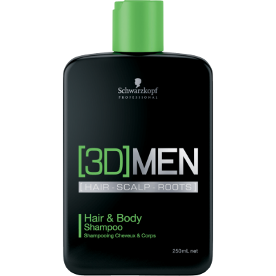 Image of   Schwarzkopf 3D Men Hair & Body Shampoo 250 ml