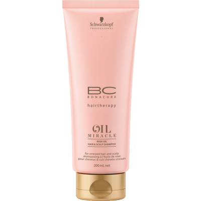Image of   Schwarzkopf Bonacure Oil Miracle Rose Oil Hair & Scalp Shampoo 200 ml