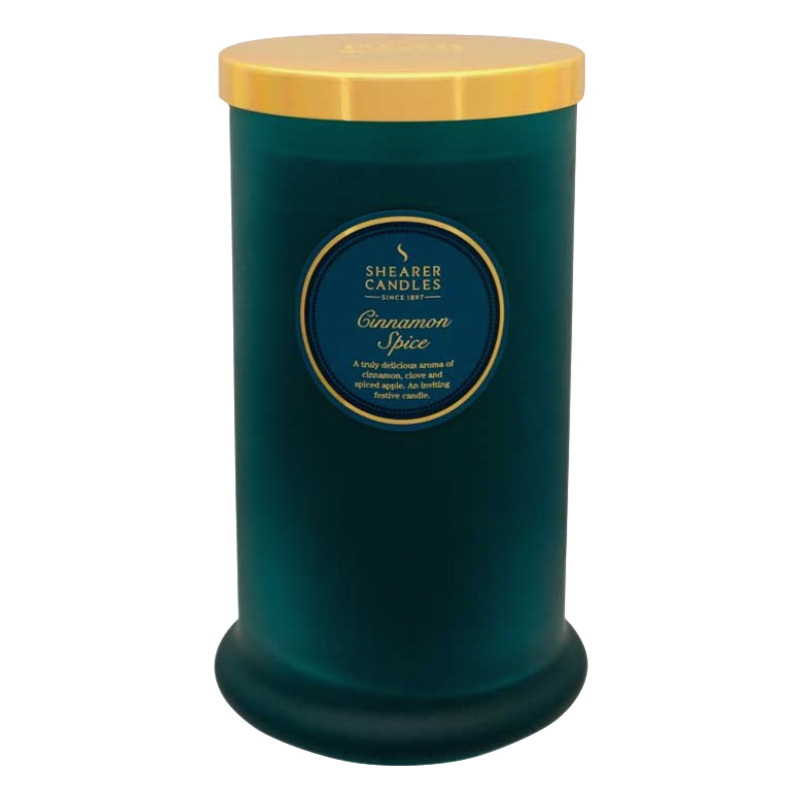 Shearer Candles Scented Candle Pillar In Jar Cinnamon