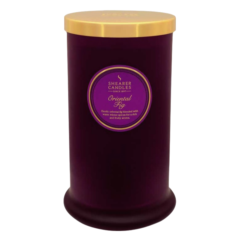 Shearer Candles Scented Candle Pillar In Jar Oriental Fig