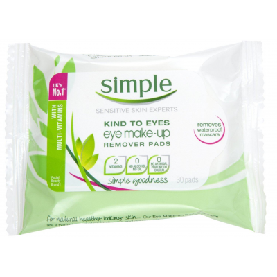 Simple Eye Makeup Remover Pads 30 stk