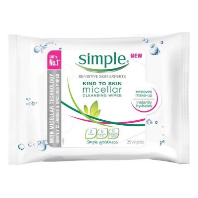 Simple Mizellen Reinigungstücher Sanft zur Haut 25 stk