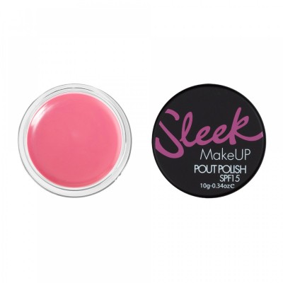 Image of   Sleek Makeup Pout Polish Lip Balm Powder Pink 10 g