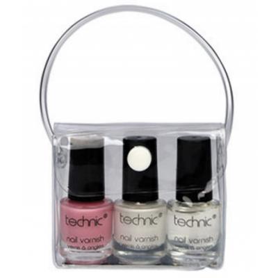 Technic French Manicure Nail Polish Set 3 x 4 ml + 1 pcs