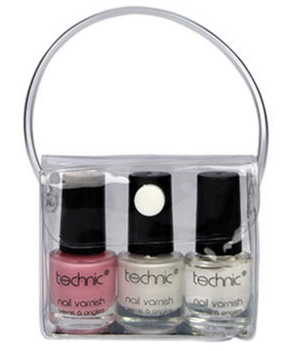 Technic French Manicure Nail Polish Set 3 x 4 ml + 1 pcs - £1.25