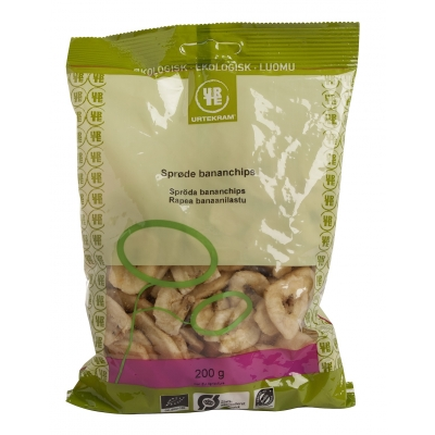 Image of   Urtekram Bananchips Øko 200 g