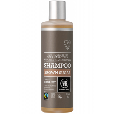 Image of   Urtekram Brown Sugar Shampoo Tør Hovedbund 250 ml