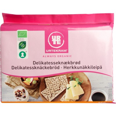 Urtekram Delikatesse Knækbrød Øko 250 g