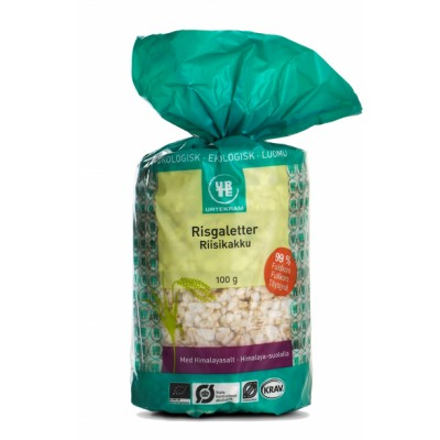 Urtekram Rice Cakes Salt Eco 100 g