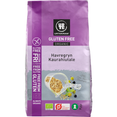 Urtekram Gluteeniton Kaurahiutale Luomu 700 g