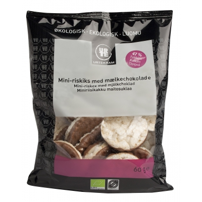 Urtekram Mini-Riskiks Mælkechokolade Øko 60 g