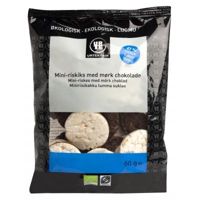 Urtekram Mini-Riskaker Mørk Sjokolade Øko 60 g