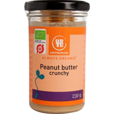 Urtekram Bio Erdnussbutter Crunchy 230 g