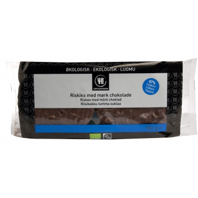 Urtekram Rice Crackers Dark Chocolate Eco 100 g