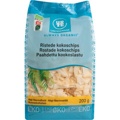 Urtekram Ristet Kokoschips Øko 200 g