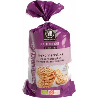 Urtekram Bio Dreikorn-Reiswaffel Glutenfrei 100 g