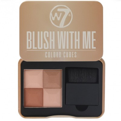 Image of   W7 Blush With Me Colour Cubes Cassie Mac 8,5 g
