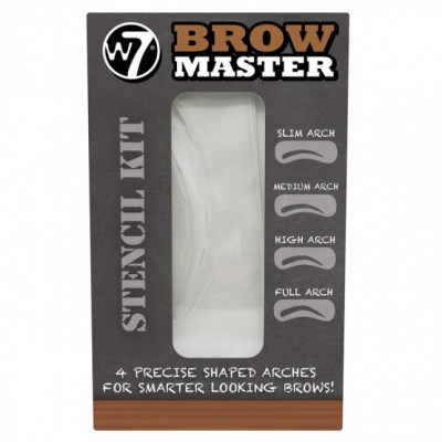 W7 Brow Master Stencil Kit 4 pcs