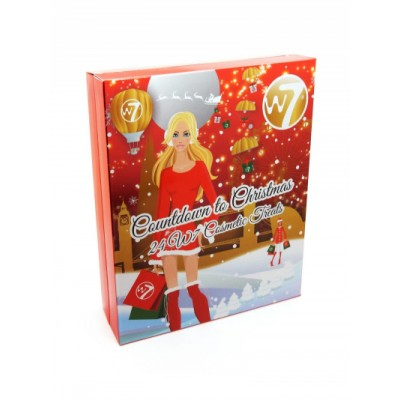 Image of   W7 Countdown To Christmas Advent Calendar 24 stk