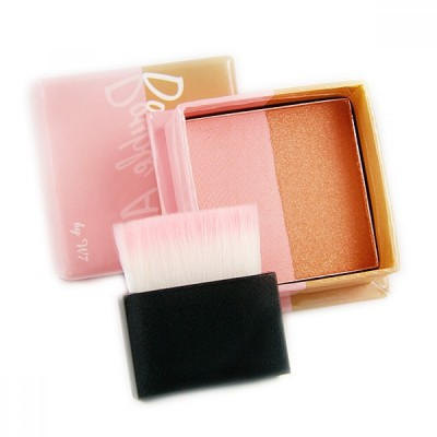 Image of   W7 Double Act Bronzer & Blusher Face Powder 8 g