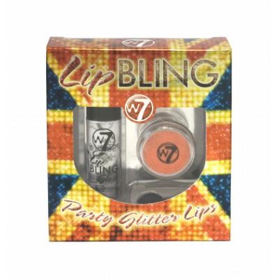 W7 Lip Bling Party Glitter Lips Copper Pot 1 g + 6 ml