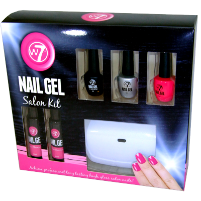 W7 Nail Gel Salon Kit 1 Sæt