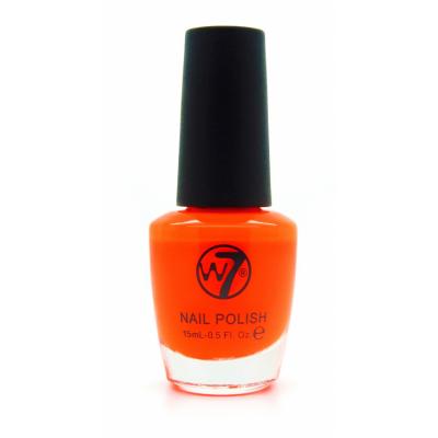 W7 Nail Polish 13 Fluorescent Orange 15 ml